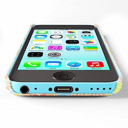 Koveru Back Cover Case for Apple iPhone 5C - TGC flower design