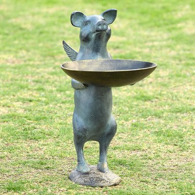 Winged Pig Decorative Bird Feeder by SPI Home