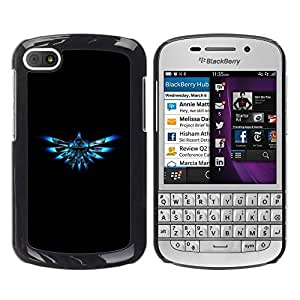 Paccase / SLIM PC / Aliminium Casa Carcasa Funda Case Cover para - Blue Triforce - BlackBerry Q10