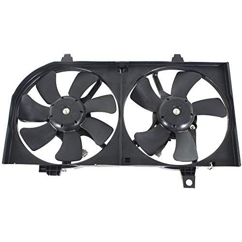 (Radiator Fan Assembly for Nissan Sentra 02-06 Dual 2.5L AT)