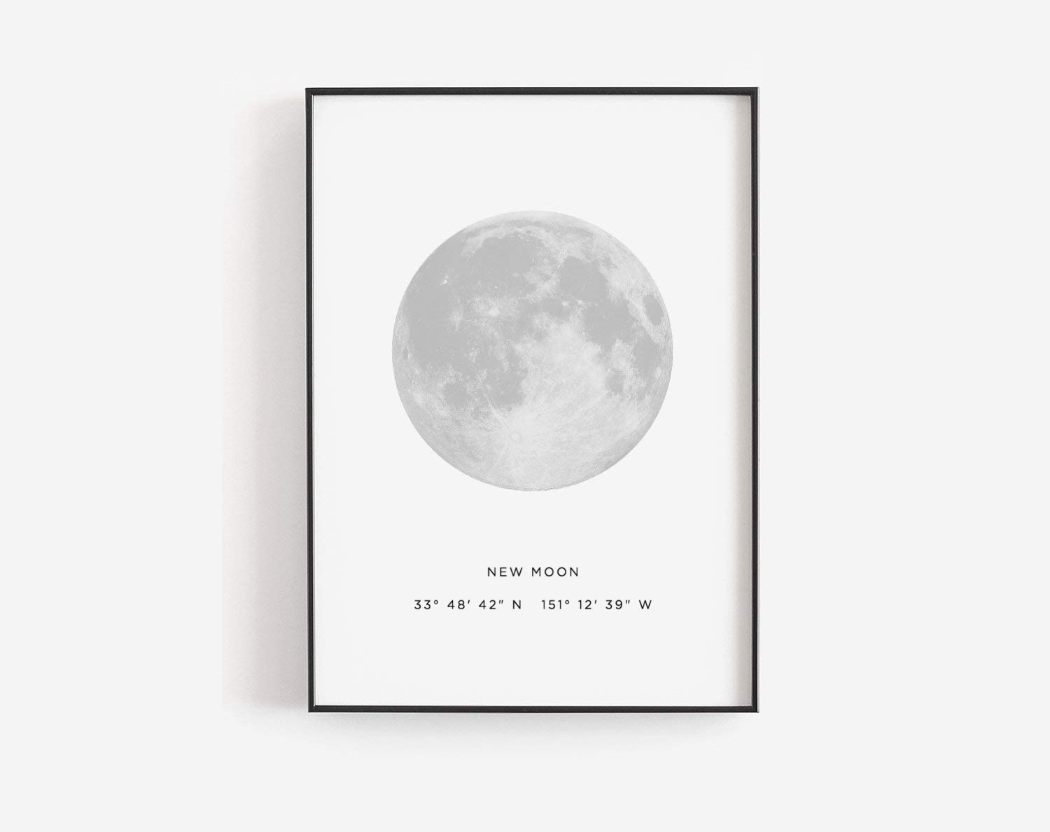 picture about Phases of the Moon Printable referred to as MalertaART Clean moon printable Fresh new moon poster Moon step and