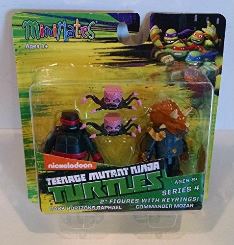 Teenage Mutant Ninja Turtles Minimates TMNT Dark Horizons Raphael, Commander Mozar & Kraang (Teenage Mutant Ninja Turtles Dark Horizons Nickelodeon Games)