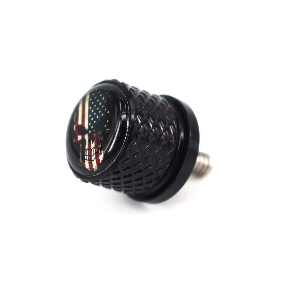 American Skeleton Stainless Knurled Fender Seat Bolt Screw 1//4-20 Thread For Harley Davidson