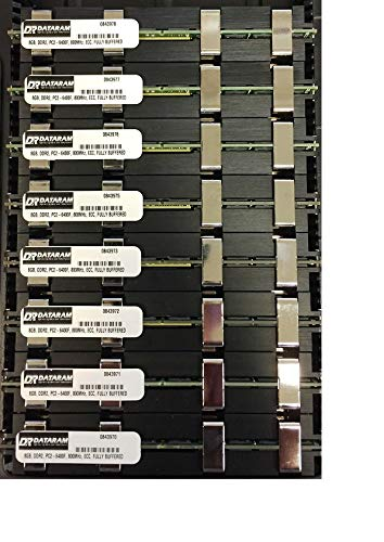64GB (8 X 8 GB) RAM Memory MAC PRO 2008 3,1 and 3,2 (2.8 3.0 3.2) (DDR2 800MHz PC2-6400 ECC FB DIMM) ECC Fully Buffered MA970LL/A ...