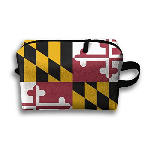 Maryland Flag Crab Pouch Makeup For Youth Cosmetic Bag Travel Cosmetic Bags Carrying - In Annapolis Shopping Maryland