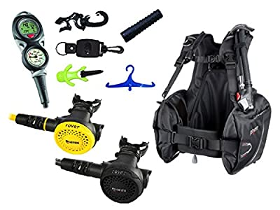 Mares Scuba Diving Computer, Regulator Set, Octo Complete Basic Package w/ BCD, Large