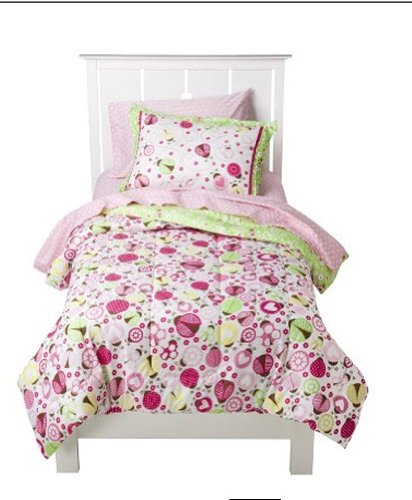 7 piezas de niña ropa de cama juego de sábanas circo Lady Bugs colección, tamaño