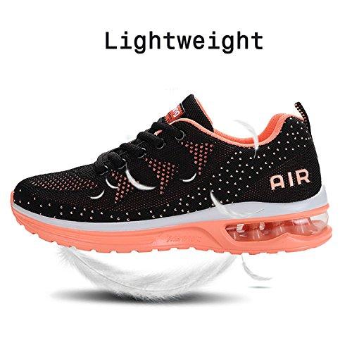 JACKSHIBO Women Lighweight Air Cushion Comfort Running Shoes,Women Blackpink 41 by JACKSHIBO (Image #3)