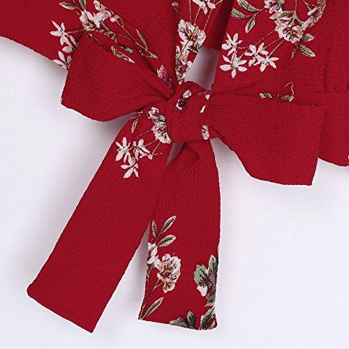 Papillon Chemisier Impression Rouge Tops Et N Florale Dbardeur ud Sexyville Femmes Cami Shirt T Camisole Vest sans Manche xBnPvxYUwq