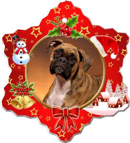 - Boxer Porcelain Holiday Ornament