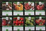 Heirloom Tomato Seeds Assortment - Eight Organic and Non-GMO Varieties: Brandywine, Cherokee Purple, Black Krim, Green Zebra, Amish Paste, Japanese Black Trifele, Yellow Brandywine, Matt's Wild Cherry