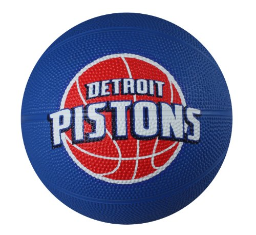 Spalding NBA Detroit Pistons Mini Rubber Basketball ()
