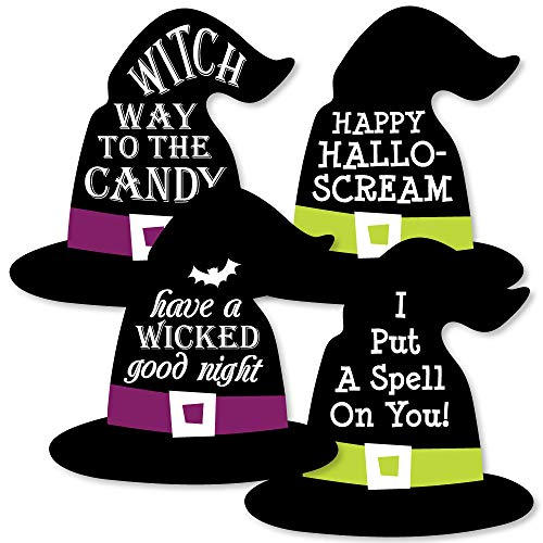 Happy Halloween - Witch Hat Decorations DIY Witch Party Essentials - Set of 20]()