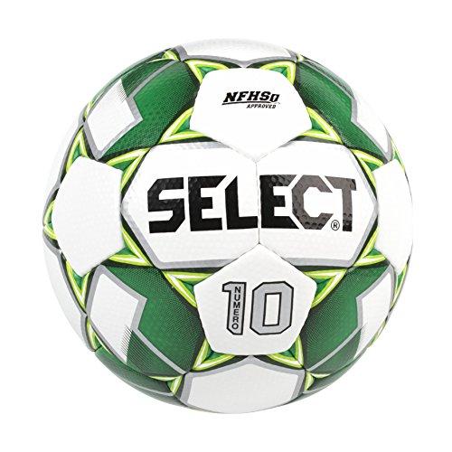 Select Numero 10 Soccer Ball, White/Green, Size 5