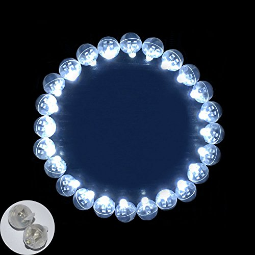 Neo LOONS® 50pcs/lot 50 X White Round Led Flash Ball Lamp Balloon Light Long Standby time for Paper Lantern Balloon Light Party Wedding Decoration]()