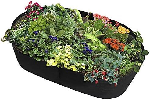 Uthome Cama elevada de tela para jardín, bolsa elevada, macetas para plantar jardín, macetas de tela, camas elevadas, bolsas de cultivo para plantas – todos los tamaños, B: Amazon.es: Jardín