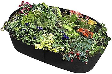 Uthome Cama elevada de tela para jardín, bolsa elevada, macetas para plantar jardín, macetas de tela, camas elevadas, bolsas de cultivo para plantas – todos los tamaños, B