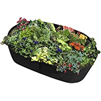 Fabric Raised Planting Bed, Garden Grow Bags Herb Flower Vegetable Plants Bed Rectangle Planter 2€˜x4' (3ft x 6ft) (2ft x 4ft)