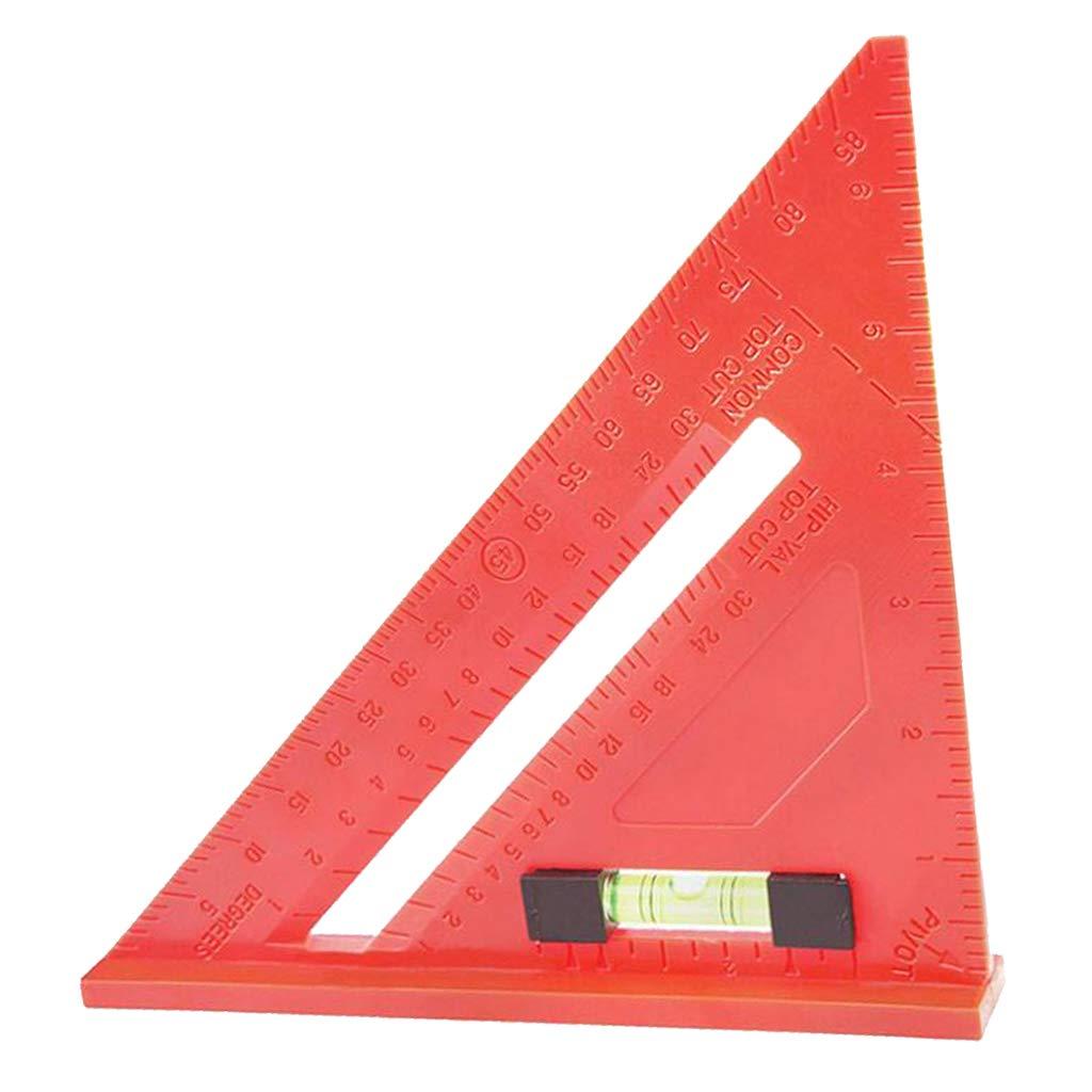 B Blesiya 7'' Plastic Triangle Ruler Horizontal Ruler Metric Carpenter Square Stainless Steel Measuring Tool with Bead
