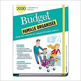 Agenda Budget famille organisée : De septembre 2019 à août