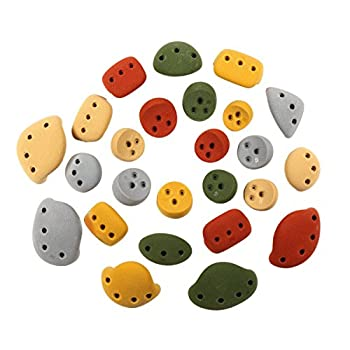 Image of 25 Kids Wall Pack #3 (Screw-on) Barefoot Friendly | Rock Climbing Holds | Assorted Earth Tones