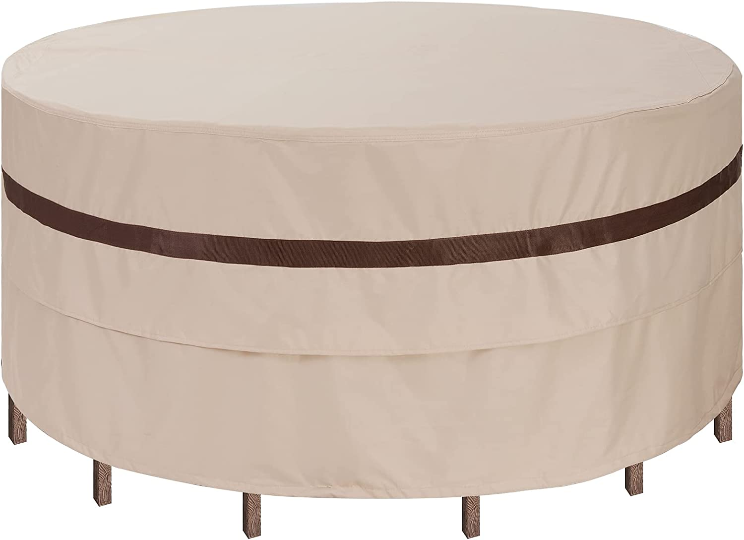 Round Patio Table Cover 76'' Dia Waterproof Patio Furniture Set Covers 30''h Outdoor Lawn Table and Chair Covers