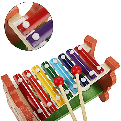 Funmily 2 in 1 Pound and Tap Bench with Slide Out Xylophone Wooden Music Toy for Kids by Funmily (Image #3)
