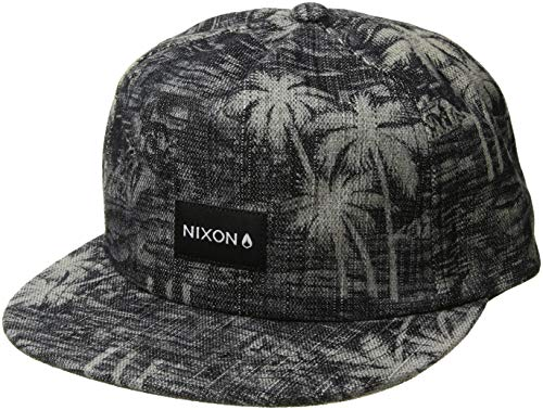 NIXON Men's Tropics Snapback Hat Paradise/Black One Size - Nixon Black Hat
