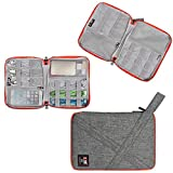Travel Organizer, BUBM Universal Travel Gear Organizer/Electronics Accessories Bag/Cable Bag/USB Drive Shuttle Case-Grey