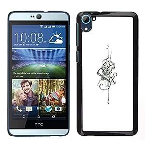 [Neutron-Star] Snap-on Series Teléfono Carcasa Funda Case Caso para HTC Desire D826 [White Six Snake Sword Skull Tattoo Ink]