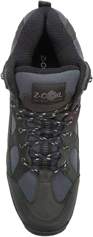 Z-CoiL Pain Relief Footwear Mens Outback Hiker Enclosed Coil Black Boots