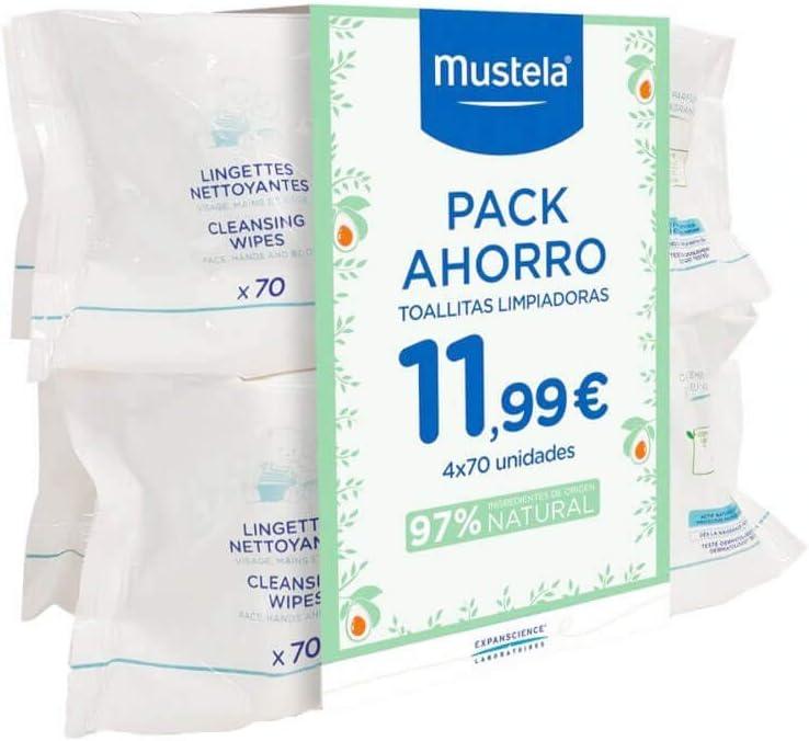 Mustela Mustela Toallitas Pack Ahorro 4X70 Unidades 200 g: Amazon.es: Belleza
