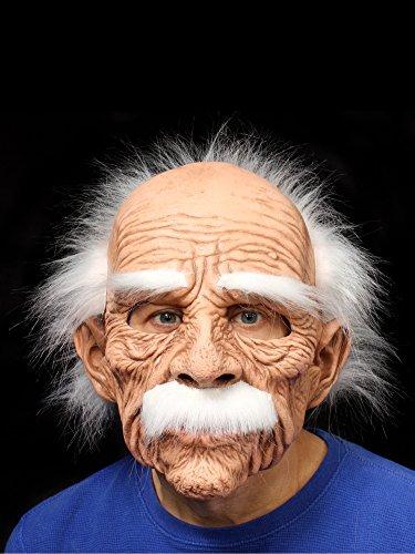 ZAGONE Grand Dad Full Mask w/ White Hair Eyebrows & -