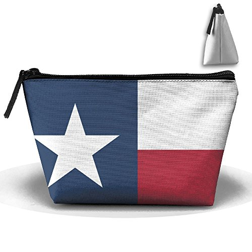 Women Girl Texas State Flag Toiletry Bag / Makeup Organizer / Cosmetic Bag / Portable Travel Kit Organizer / Household Storage Pack / Bathroom Storage For Business, Vacation, ()