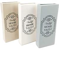 BUYSTAR Set 4 Umidificatori In Ceramica Per Termosifoni Stile Shabby Chic Vintage Home, 8,5x3x20 Cm, Colori Assortiti