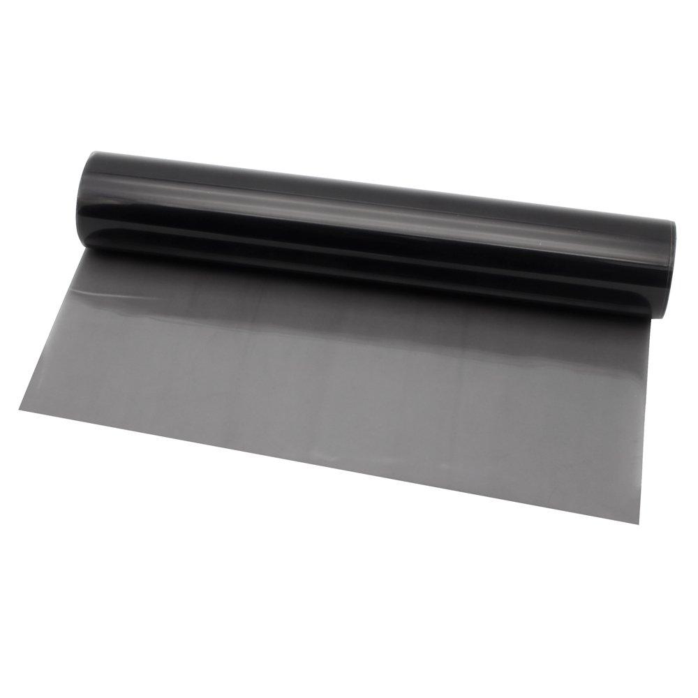 Topwill Autocollants Films Feu Arri/ère Antibrouillard Noir 200cm x 30cm Feuille de Teinte du Film de Phare Film de Protection Autocollant pour pour Phare de Voiture