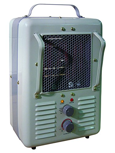 Patton Electric Thermostat Heater - TPI Corporation 188TASA Fan Forced Portable Heater - Milk House Style Fan, 1500/1300W, 120V, Durable Winter Care Accessory. Genuine Heating Equipment
