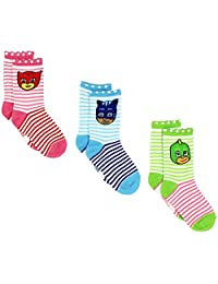 PJ Masks Boys Girls 3 pack Crew Socks (4-6 (Shoe: 7-10), White/Multi)