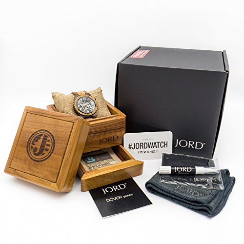 JORD Wooden Watches for Men and Women - Dover Series Skeleton Automatic / Wood Watch Band / Wood Bezel / Self Winding Movement - Includes Wood Watch Box