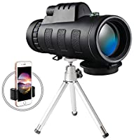 Monocular Telescope, 40x60 High Powered Monocular with Smartphone Adapter