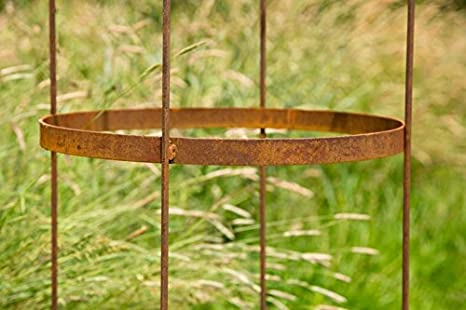150cm hoch Lilie Rankger/üst Metall Eisen Rost Deko Gerry Rankgitter Rankhilfe quadratisch m