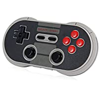 Joyhero Wireless Bluetooth Classic 8Bitdo N30 Pro Game Controller Android Gamepad - PC Mac Linux - Round - Ergonomic Retro Design - Switch Compatible - Up to 20 Hour Battery Life
