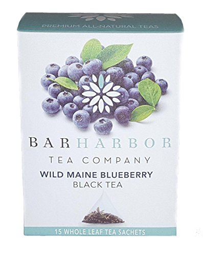 Wild Maine Blueberry Black Tea, Organic, 15 - Wild Black Tea Blueberry