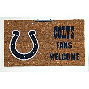 """NFL Indianapolis Colts Lighted Coir Door Mat 28"""" x 16"""""""