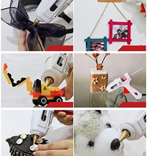 Xing zhe ホットメルト接着ガン、スティックのり、アルミニウム合金ノズルとブラケット、子供の大人アートクリエーション、家庭デイリーシール修理に適した、白で100Wプロフェッショナルグレードホットグルーガン、 贈り物 (Color : C)