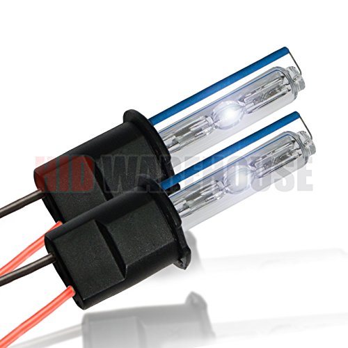HID-Warehouse HID Xenon Replacement Bulbs - H3 8000K - Medium Blue (1 Pair) - 2 Year Warranty