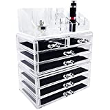 Vanity Box Ikee Design Acrylic Jewelry & Cosmetic Storage Display Boxes 3 Pieces Set