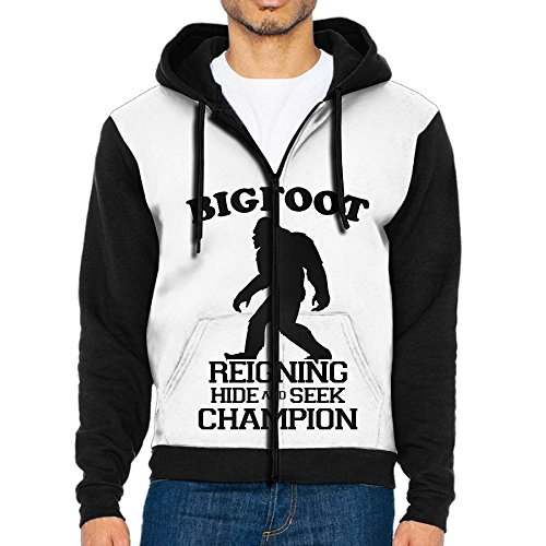 Prep Full Zip Hoodie (DE4K Bigfoot Hide and Seek Casual Style Men's Full-Zip Hoodie Baseball Jacket)