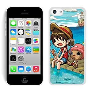 One Piece 7 White Unique Protective Skin Phone Case For iPhone 5C Case