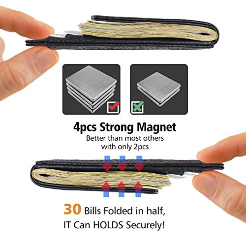Garigolden Money Clip, Leather RFID Blocking Wallet for Men(Black) … by Garigolden (Image #3)